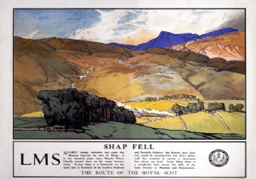 Shap Fell, Cumbria, The Route of The Royal Scot. LMS Vintage Travel Poster by Donald Maxwell